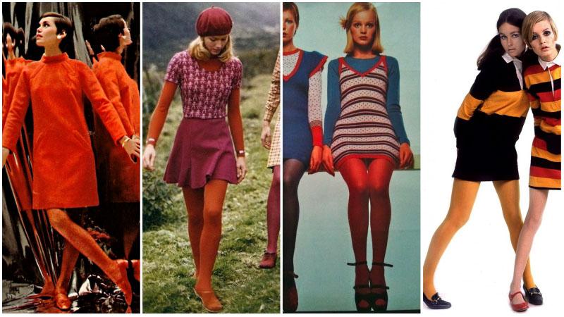 Цветные колготки 60-х