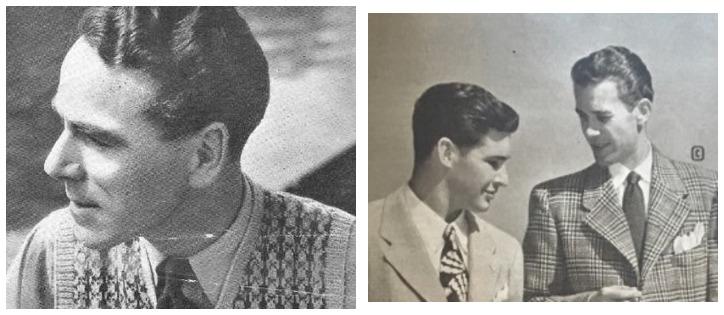 зализанные причёски в Америке 40-х
