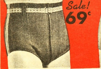 1940 Мужские трусы для плавания