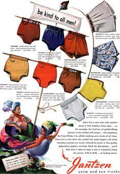 1948 Мужские купальные костюмы
