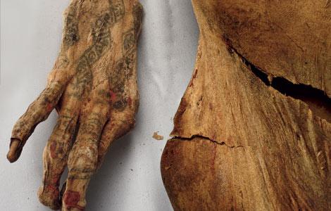 Тату на египетской мумии