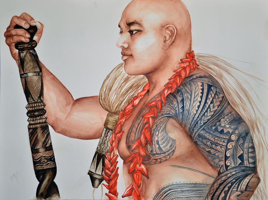 Вид татуированного самоанца